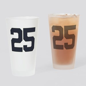 25 25th Birthday 25 Years Old Drinking Glass