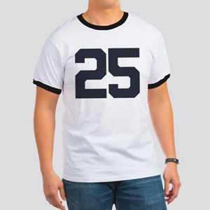 25 25th Birthday 25 Years Old Ringer T