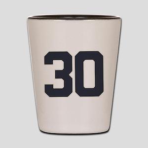 30 30th Birthday 30 Years Old Shot Glass