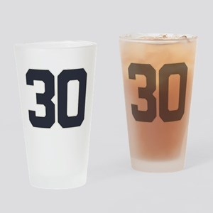 30 30th Birthday 30 Years Old Drinking Glass