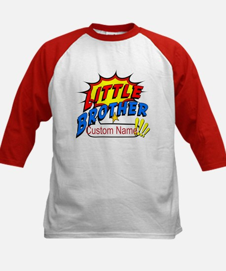 Little Brother Superhero Kids Baseball Jersey