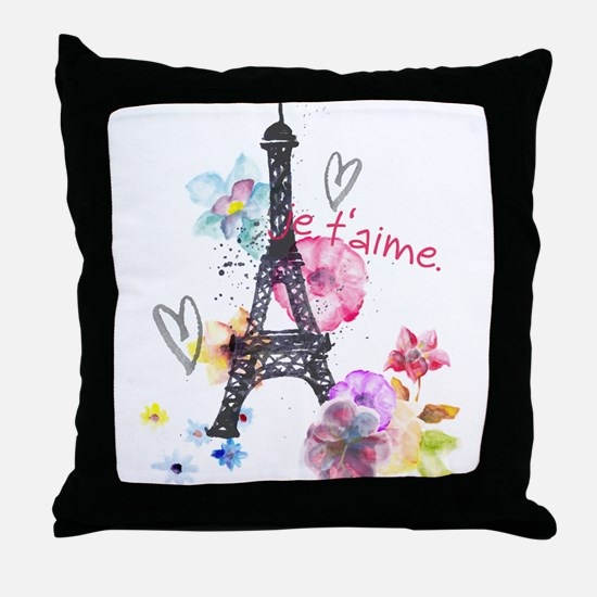 Cute Eiffel Throw Pillow