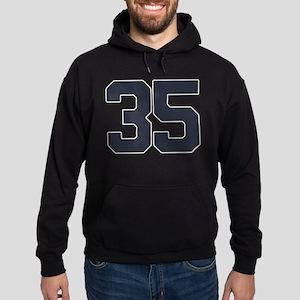 35 35th Birthday 35 Years Old Hoodie (dark)