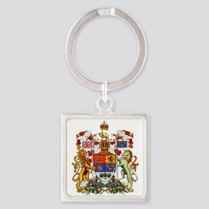 Canadian Royal Coat of Arms Square Keychain