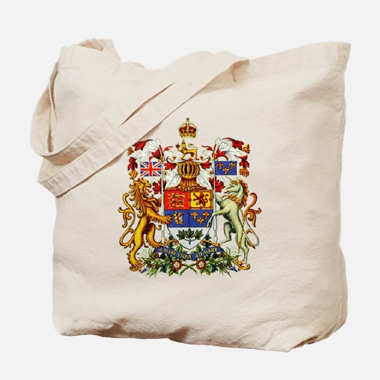 Canadian Royal Coat of Arms Tote Bag