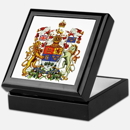 Canadian Royal Coat of Arms Keepsake Box