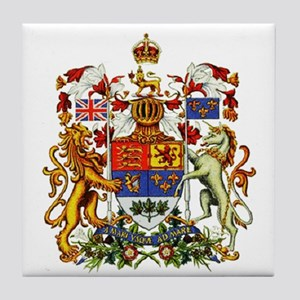 Canadian Royal Coat of Arms Tile Coaster