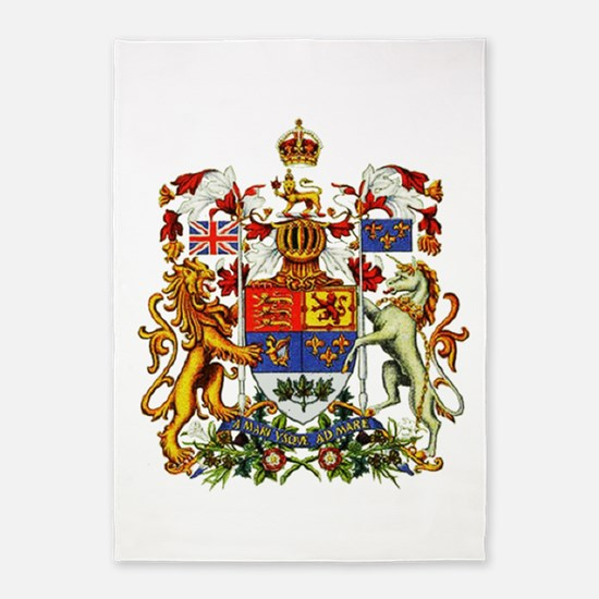 Canadian Royal Coat of Arms 5'x7'Area Rug