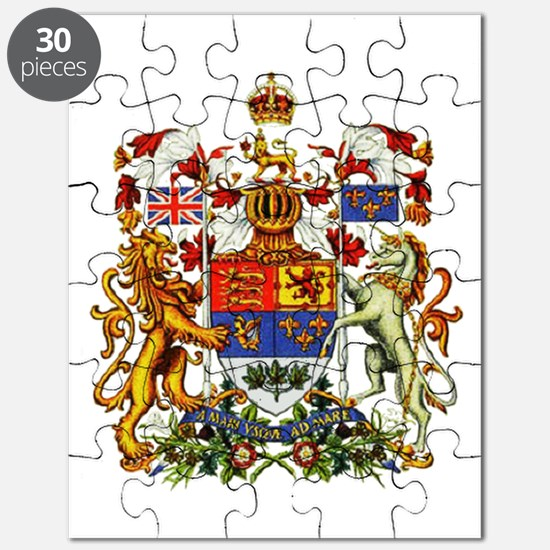 Canadian Royal Coat of Arms Puzzle