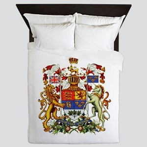 Canadian Royal Coat of Arms Queen Duvet