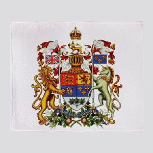 Canadian Royal Coat of Arms Throw Blanket