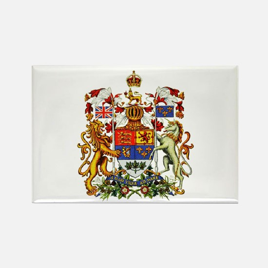 Canadian Royal Coat of Arms Rectangle Magnet