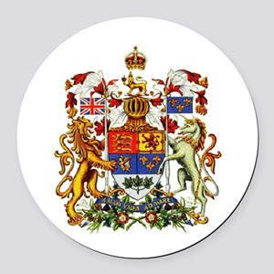 Canadian Royal Coat of Arms Round Car Magnet