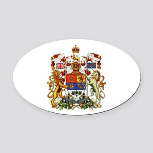 Canadian Royal Coat of Arms Oval Car Magnet