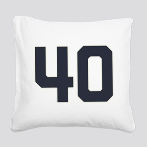 40 40th Birthday 40 Years Old Square Canvas Pillow