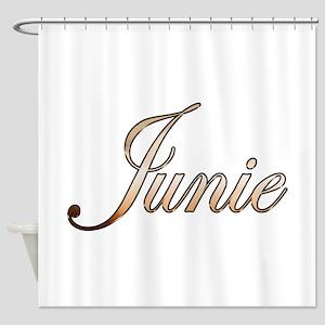 Gold Junie Shower Curtain
