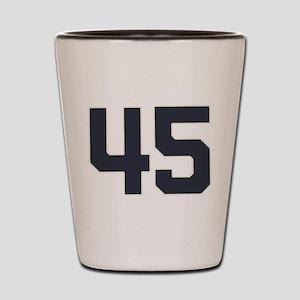 45 45th Birthday 45 Years Old Shot Glass