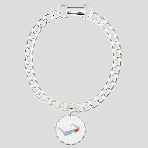 3d glasses Charm Bracelet, One Charm