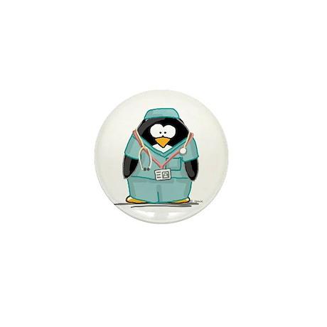 Surgeon Penguin Mini Button