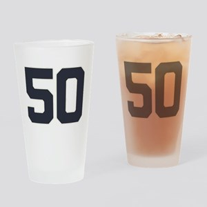 50 50th Birthday 50 Years Old Drinking Glass
