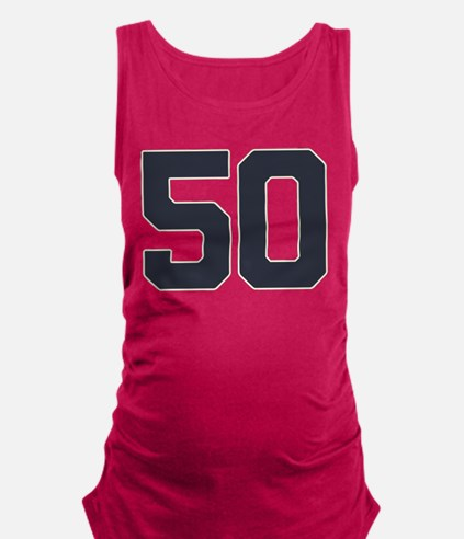 50 50th Birthday 50 Years Old Maternity Tank Top