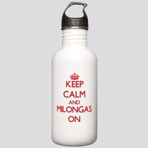 Keep Calm and Milongas Stainless Water Bottle 1.0L