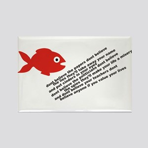 The Fish Of Lies Rectangle Magnet