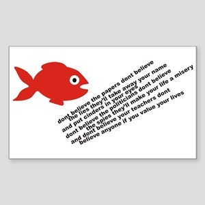 The Fish Of Lies Rectangle Sticker