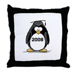 2008 Graduation Penguin Throw Pillow