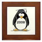 2008 Graduation Penguin Framed Tile