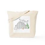 Winter Greenhouse Tote Bag