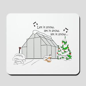 Winter Greenhouse Mousepad