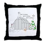 Winter Greenhouse Throw Pillow