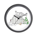 Winter Greenhouse Wall Clock