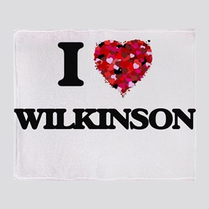 I Love Wilkinson Throw Blanket