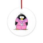 Nurse Penguin Ornament (Round)