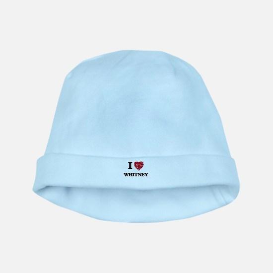 I Love Whitney baby hat