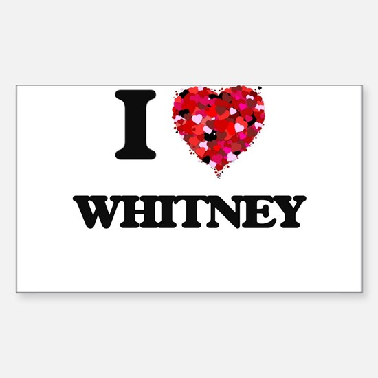 I Love Whitney Decal