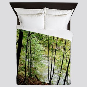 Silhouetted Trees Queen Duvet