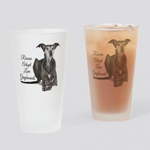 Love Greyhounds Drinking Glass