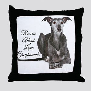 Love Greyhounds Throw Pillow