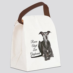 Love Greyhounds Canvas Lunch Bag