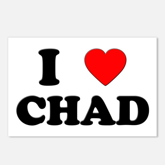 I Love Chad Postcards (Package of 8)