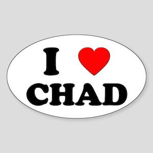 I Love Chad Oval Sticker