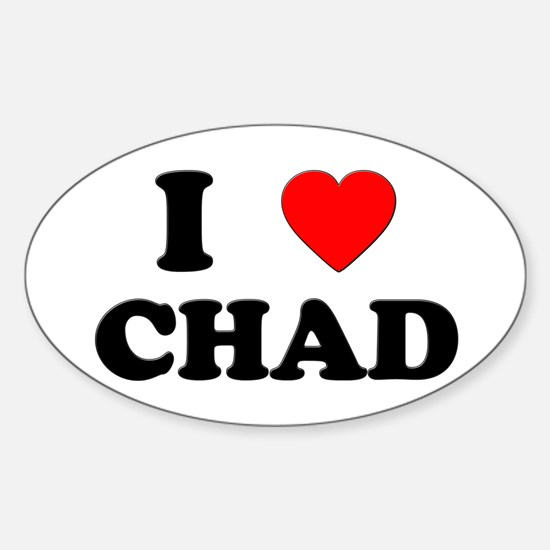 I Love Chad Oval Decal