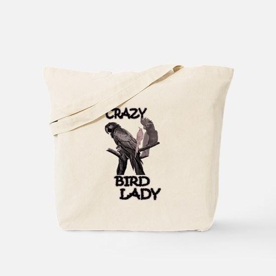 Crazy Bird Lady Tote Bag