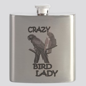 Crazy Bird Lady Flask