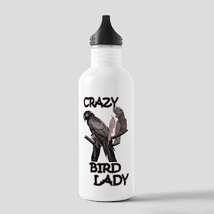 Crazy Bird Lady Water Bottle