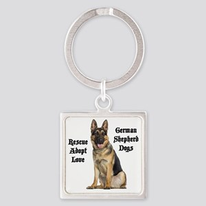 Love GSDs Square Keychain