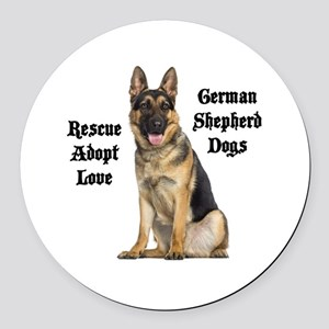 Love GSDs Round Car Magnet